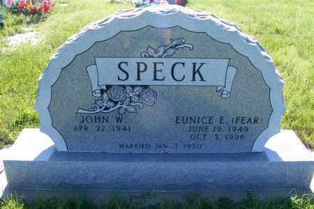 SPECK, EUNICE E. (FEAR) - Frontier County, Nebraska | EUNICE E. (FEAR) SPECK - Nebraska Gravestone Photos