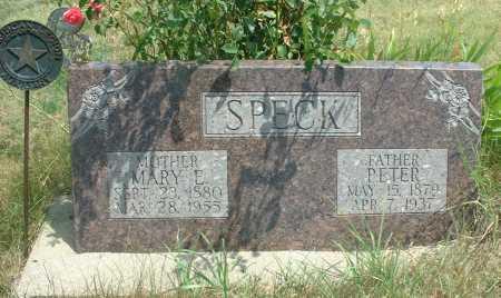 SPECK, MARY E. - Frontier County, Nebraska   MARY E. SPECK - Nebraska Gravestone Photos