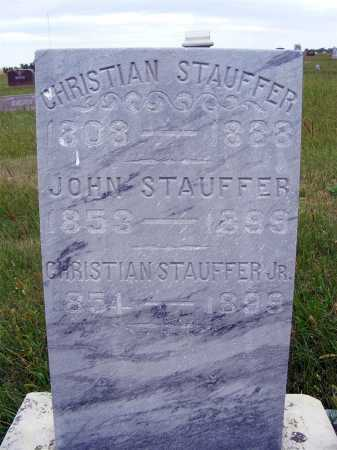 STAUFFER, CHRISTIAN - Frontier County, Nebraska | CHRISTIAN STAUFFER - Nebraska Gravestone Photos
