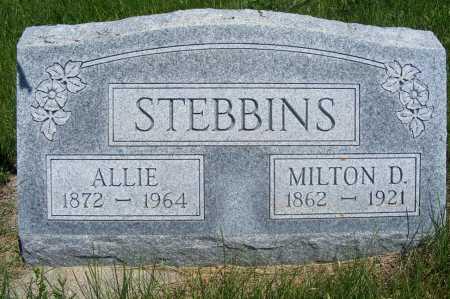 STEBBINS, MILTON D. - Frontier County, Nebraska   MILTON D. STEBBINS - Nebraska Gravestone Photos