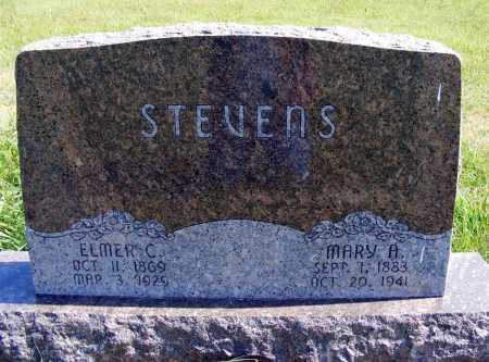 STEVENS, MARY A. - Frontier County, Nebraska   MARY A. STEVENS - Nebraska Gravestone Photos