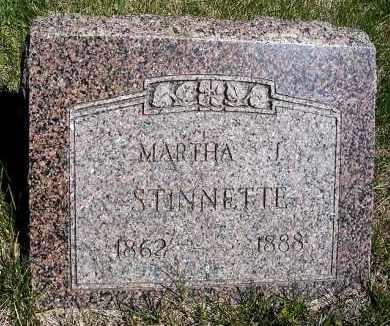 STINNETTE, MARTHA J. - Frontier County, Nebraska   MARTHA J. STINNETTE - Nebraska Gravestone Photos