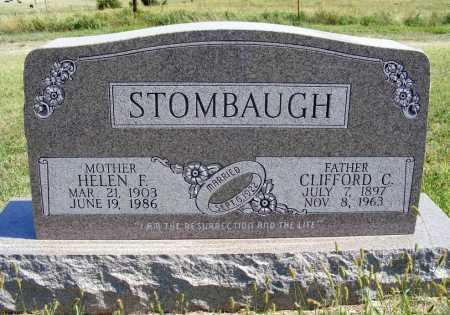 STOMBAUGH, HELEN F. - Frontier County, Nebraska | HELEN F. STOMBAUGH - Nebraska Gravestone Photos