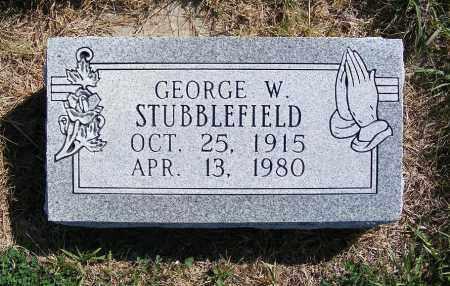 STUBBLEFIELD, GEORGE W. - Frontier County, Nebraska | GEORGE W. STUBBLEFIELD - Nebraska Gravestone Photos