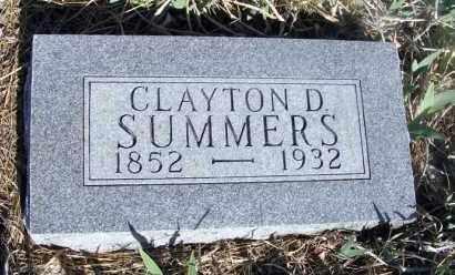 SUMMERS, CLAYTON D. - Frontier County, Nebraska | CLAYTON D. SUMMERS - Nebraska Gravestone Photos