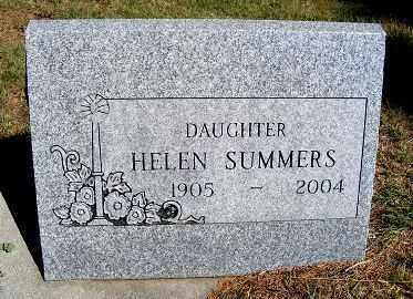 SUMMERS, HELEN - Frontier County, Nebraska   HELEN SUMMERS - Nebraska Gravestone Photos