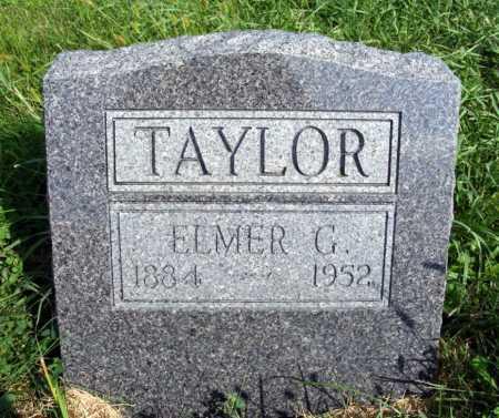 TAYLOR, ELMER G. - Frontier County, Nebraska | ELMER G. TAYLOR - Nebraska Gravestone Photos
