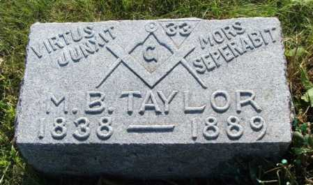 TAYLOR, M.B. - Frontier County, Nebraska | M.B. TAYLOR - Nebraska Gravestone Photos