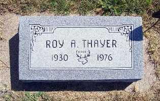 THAYER, ROY A. - Frontier County, Nebraska   ROY A. THAYER - Nebraska Gravestone Photos