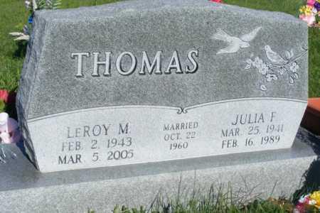 MCMICHAEL THOMAS, JULIA F. - Frontier County, Nebraska | JULIA F. MCMICHAEL THOMAS - Nebraska Gravestone Photos