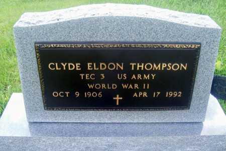THOMPSON, CLYDE ELDON - Frontier County, Nebraska | CLYDE ELDON THOMPSON - Nebraska Gravestone Photos