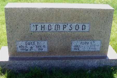 THOMPSON, FLOY C. - Frontier County, Nebraska | FLOY C. THOMPSON - Nebraska Gravestone Photos
