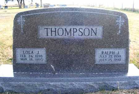 THOMPSON, LOLA J. - Frontier County, Nebraska | LOLA J. THOMPSON - Nebraska Gravestone Photos