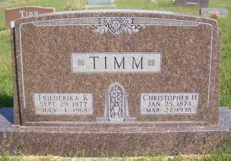 TIMM, FRIEDERIKA K. - Frontier County, Nebraska | FRIEDERIKA K. TIMM - Nebraska Gravestone Photos