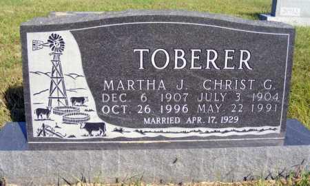 TOBERER, MARTHA J. - Frontier County, Nebraska | MARTHA J. TOBERER - Nebraska Gravestone Photos