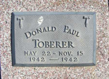 TOBERER, DONALD PAUL - Frontier County, Nebraska | DONALD PAUL TOBERER - Nebraska Gravestone Photos