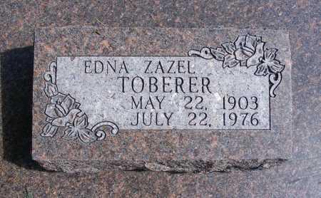 TOBERER, EDNA ZAZEL - Frontier County, Nebraska | EDNA ZAZEL TOBERER - Nebraska Gravestone Photos