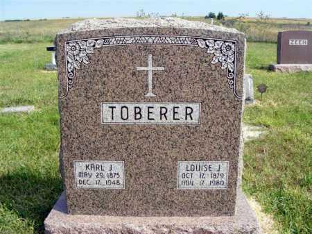 TOBERER, LOUISE J. - Frontier County, Nebraska | LOUISE J. TOBERER - Nebraska Gravestone Photos