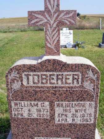 TOBERER, WILHELMINE K. - Frontier County, Nebraska   WILHELMINE K. TOBERER - Nebraska Gravestone Photos