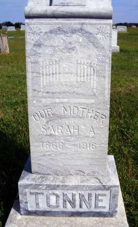 TONNE, SARAH A. - Frontier County, Nebraska   SARAH A. TONNE - Nebraska Gravestone Photos