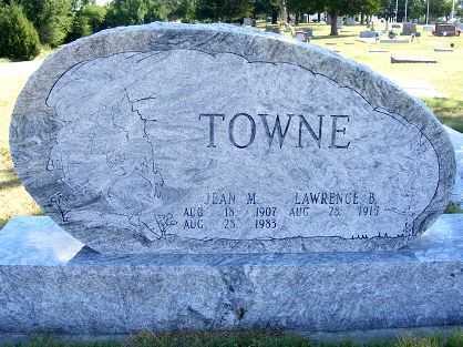 TOWNE, LAWRENCE B. - Frontier County, Nebraska | LAWRENCE B. TOWNE - Nebraska Gravestone Photos