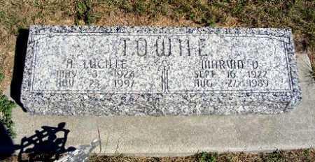 TOWNE, A. LUCILLE - Frontier County, Nebraska | A. LUCILLE TOWNE - Nebraska Gravestone Photos