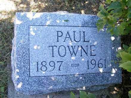 TOWNE, PAUL - Frontier County, Nebraska   PAUL TOWNE - Nebraska Gravestone Photos