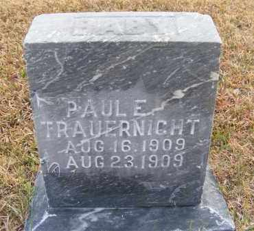 TRAUERNIGHT, PAUL E. - Frontier County, Nebraska | PAUL E. TRAUERNIGHT - Nebraska Gravestone Photos