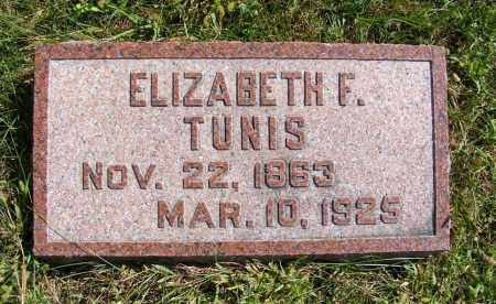 TUNIS, ELIZABETH F. - Frontier County, Nebraska | ELIZABETH F. TUNIS - Nebraska Gravestone Photos