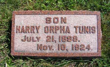 TUNIS, HARRY ORPHA - Frontier County, Nebraska | HARRY ORPHA TUNIS - Nebraska Gravestone Photos