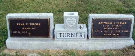 SCHMEECKLE TURNER, ERMA E. - Frontier County, Nebraska   ERMA E. SCHMEECKLE TURNER - Nebraska Gravestone Photos