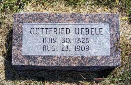 UEBELE, GOTTFRIED - Frontier County, Nebraska   GOTTFRIED UEBELE - Nebraska Gravestone Photos