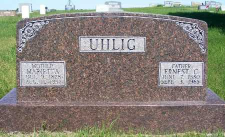 UHLIG, MARIETTA - Frontier County, Nebraska | MARIETTA UHLIG - Nebraska Gravestone Photos