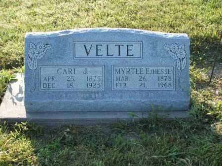 VELTE, CARL J. - Frontier County, Nebraska | CARL J. VELTE - Nebraska Gravestone Photos