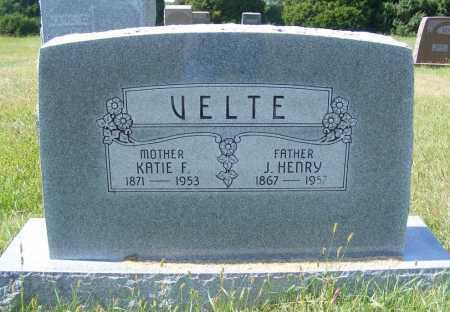 VELTE, J. HENRY - Frontier County, Nebraska   J. HENRY VELTE - Nebraska Gravestone Photos