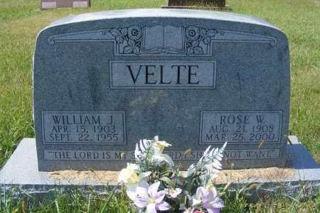 VELTE, WILLIAM J. - Frontier County, Nebraska | WILLIAM J. VELTE - Nebraska Gravestone Photos