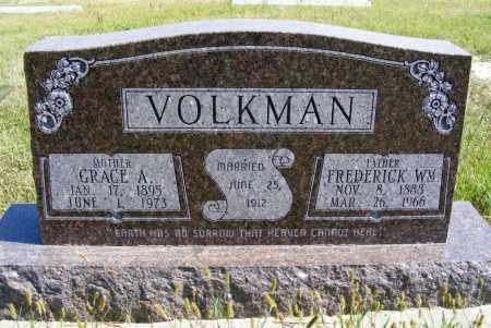 VOLKMAN, FREDERICK WM. - Frontier County, Nebraska | FREDERICK WM. VOLKMAN - Nebraska Gravestone Photos