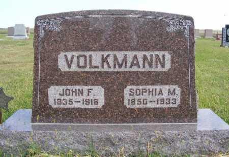 VOLKMANN, SOPHIA M. - Frontier County, Nebraska   SOPHIA M. VOLKMANN - Nebraska Gravestone Photos