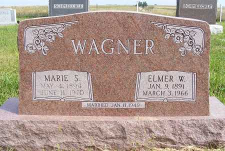 WAGNER, ELMER W. - Frontier County, Nebraska   ELMER W. WAGNER - Nebraska Gravestone Photos