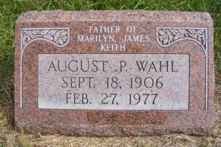 WAHL, AUGUST P. - Frontier County, Nebraska | AUGUST P. WAHL - Nebraska Gravestone Photos