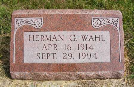 WAHL, HERMAN G. - Frontier County, Nebraska | HERMAN G. WAHL - Nebraska Gravestone Photos