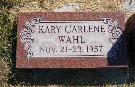 WAHL, KARY CARLENE - Frontier County, Nebraska | KARY CARLENE WAHL - Nebraska Gravestone Photos