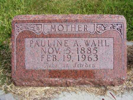 WAHL, PAULINE A. - Frontier County, Nebraska | PAULINE A. WAHL - Nebraska Gravestone Photos