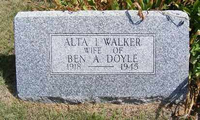 WALKER, ALTA I. - Frontier County, Nebraska | ALTA I. WALKER - Nebraska Gravestone Photos