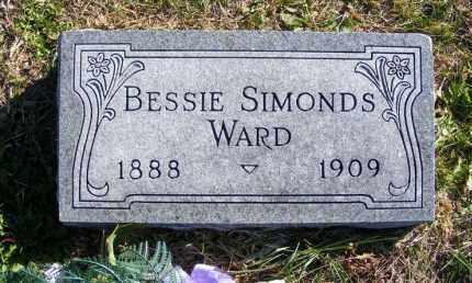 SIMONDS WARD, BESSIE - Frontier County, Nebraska   BESSIE SIMONDS WARD - Nebraska Gravestone Photos