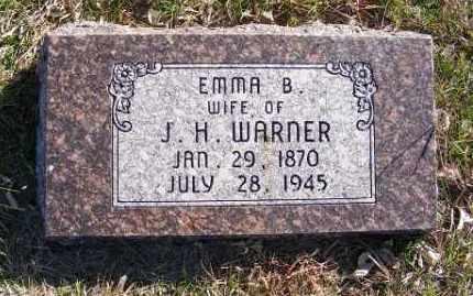 WARNER, EMMA B. - Frontier County, Nebraska   EMMA B. WARNER - Nebraska Gravestone Photos