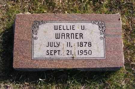 WARNER, WELLIE U. - Frontier County, Nebraska | WELLIE U. WARNER - Nebraska Gravestone Photos
