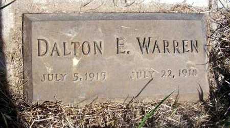 WARREN, DALTON E. - Frontier County, Nebraska   DALTON E. WARREN - Nebraska Gravestone Photos