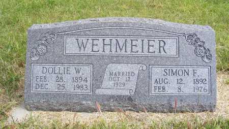 WEHMEIER, DOLLIE W. - Frontier County, Nebraska | DOLLIE W. WEHMEIER - Nebraska Gravestone Photos