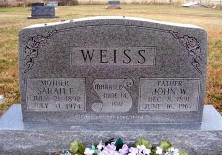 WEISS, JOHN W. - Frontier County, Nebraska | JOHN W. WEISS - Nebraska Gravestone Photos